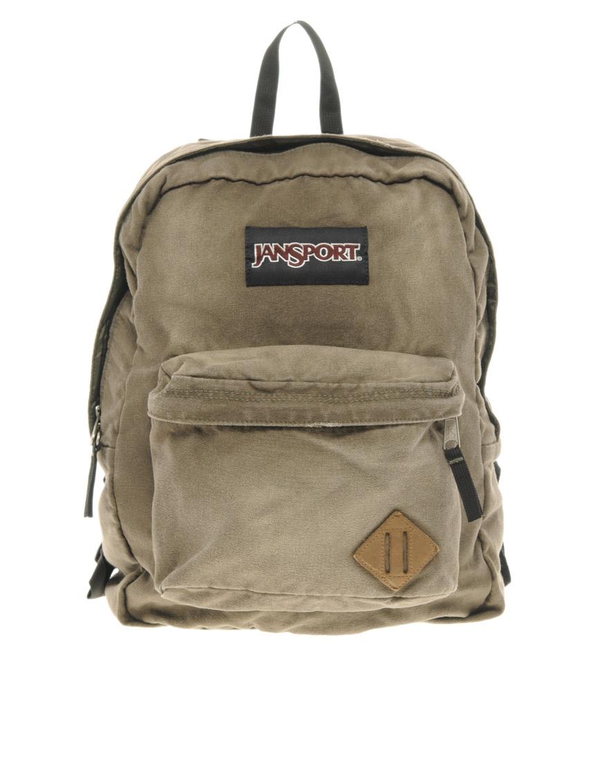 Jansport Slacker Backpack in Khaki for Men (green)