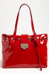Jimmy Choo Rhea Patent Leather Tote - Lyst