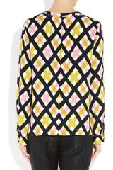 Marni Aviary Print Crepe Top in Multicolor (pink) - Lyst