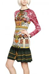 Mary Katrantzou Lurex Wool Jacquard Dress - Lyst