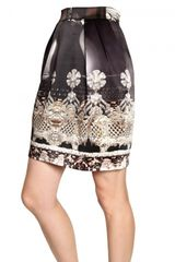 Mary Katrantzou Printed Heavy Silk Satin Skirt - Lyst