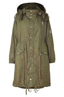 McQ by Alexander McQueen Military Green Oversized Parka - Lyst
