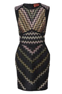 Missoni Zigzag Woolblend Knit Dress - Lyst