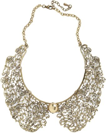 ModCloth An Ornate Fate Collar Necklace - Lyst