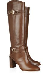 Tory Burch Calista Leather Knee Boots - Lyst