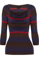 Vivienne Westwood Anglomania Striped Jersey Top - Lyst