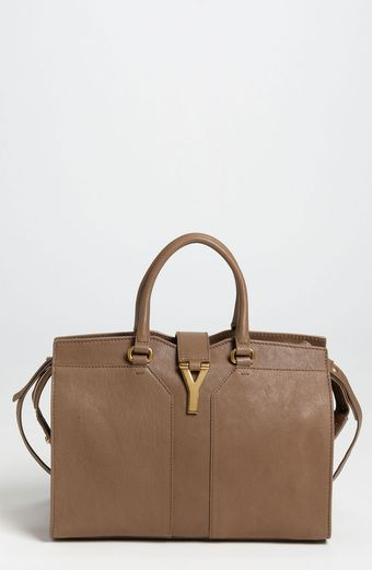 Yves Saint Laurent Cabas Chyc Mini Leather Satchel - Lyst