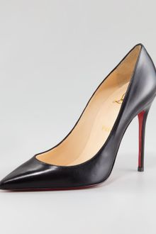 Christian Louboutin Decollete Calfskin Pointedtoe Pump - Lyst