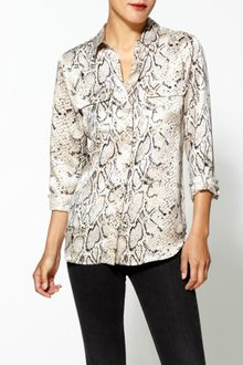 Equipment Signature Python Silk Blouse - Lyst