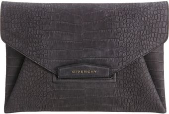 Givenchy Croc Stamped Antigona Envelope Clutch - Lyst