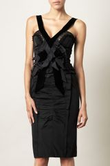 Nina Ricci Razmir and Velvet Dress - Lyst