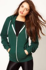 American Apparel Hoodie in Green (forestgreen) - Lyst