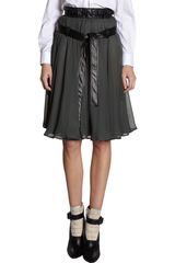 Balenciaga Leather Tie Waist Skirt - Lyst
