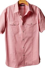 Banana Republic Shortsleeved Pintucked Utility Shirt - Lyst