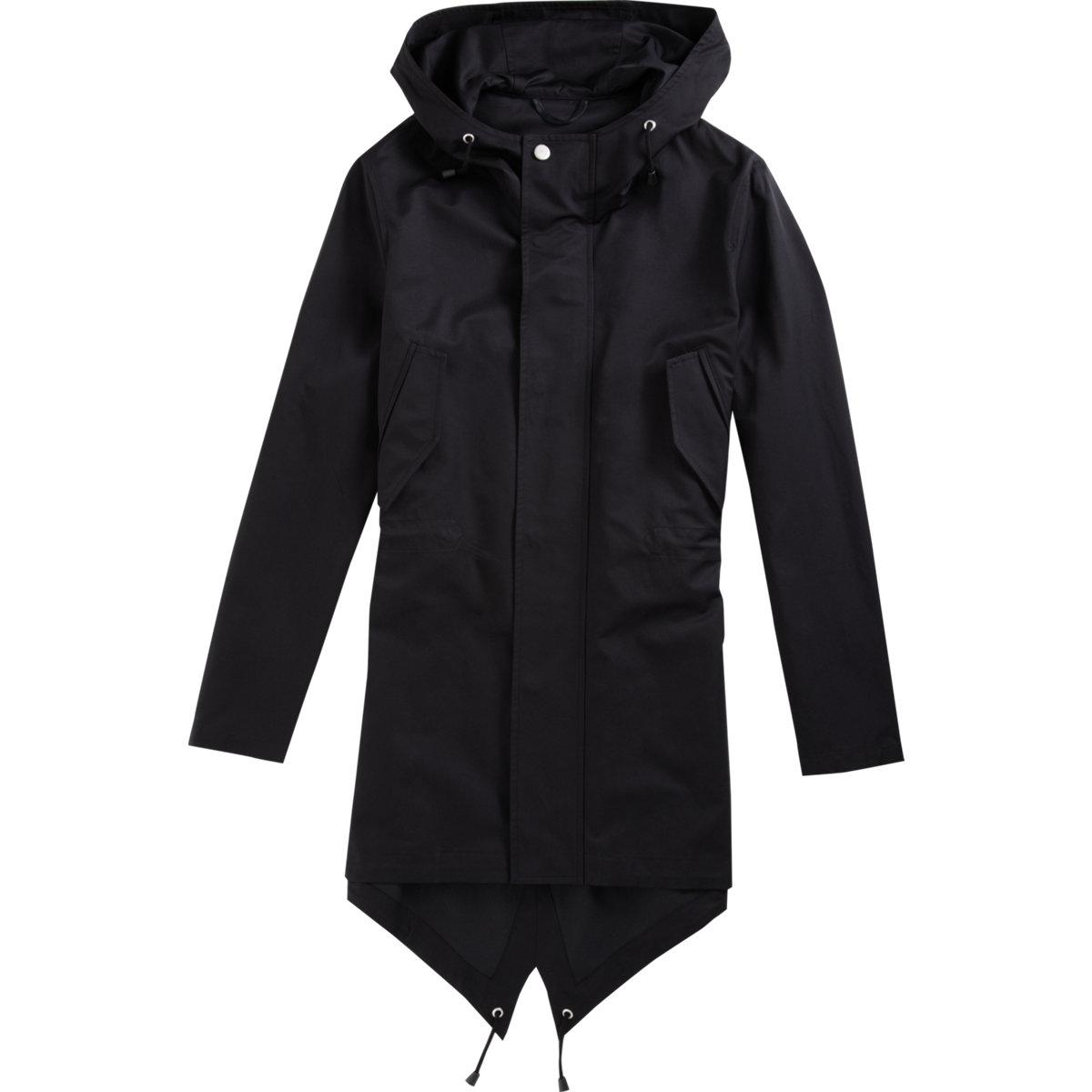 Barneys new york Fishtail Parka in Black for Men | Lyst