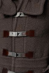 Burberry Prorsum Luggage Lock Felted Duffle Coat in Brown for Men (pebble) - Lyst