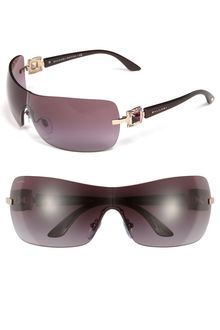 Bvlgari Swarovski Crystal Shield Sunglasses - Lyst
