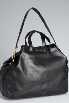 Givenchy Black Leather Trapezoid Convertible Top Handle - Lyst