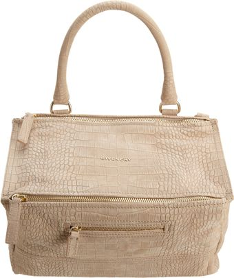 Givenchy Croc -Stamped Medium Pandora Messenger - Lyst