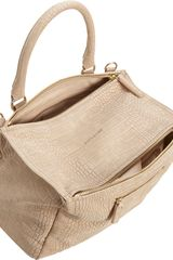 Givenchy Croc Stamped Medium Pandora Messenger in Beige (sand) - Lyst