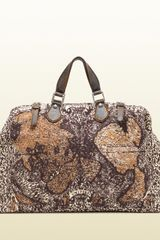 Gucci Goldmark Map Print Jacquard Cotton Carryon Duffle Bag - Lyst