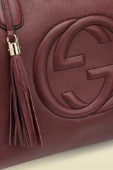 Gucci Soho Red Leather Messenger Bag in Red - Lyst