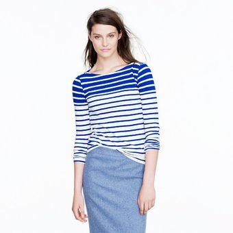 J.Crew Painter Boatneck Tee in Stripe - Lyst