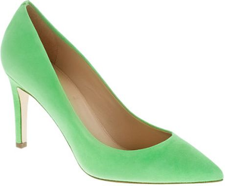 J.crew Everly Suede Pumps in Green (vivid lime) - Lyst
