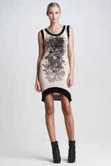 Jean Paul Gaultier Sleeveless Tattooprint Dress - Lyst