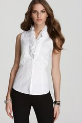 Lafayette 148 New York Markel Cotton Voile Blouse - Lyst