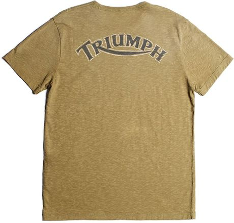 Lucky brand triumph t shirt in green for men lakewood for Lucky brand triumph shirt
