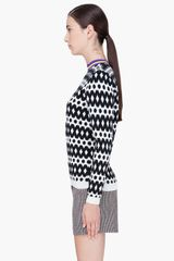Marni Black White Wool Sweater in Black - Lyst