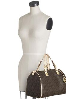 Michael by Michael Kors Grayson Large Logo Satchel - Lyst