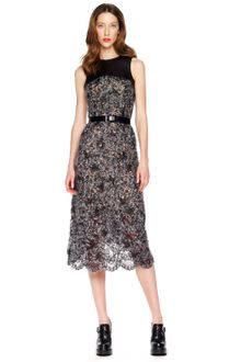 Michael Kors Fuzzy Lace Dress - Lyst