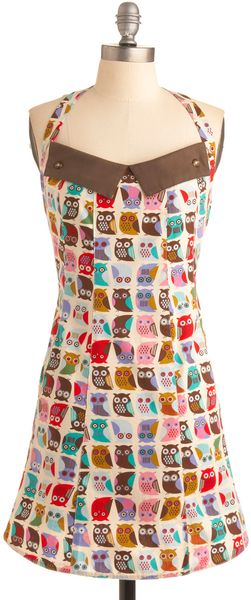 ModCloth If You Cant Stand The Hoot Apron - Lyst