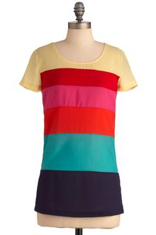 ModCloth Make It Rainbow Top - Lyst