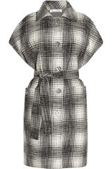 Oscar de la Renta Plaid Wool And Cashmere Blend Coat - Lyst