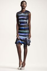 Peter Pilotto Striped Handkerchiefhem Dress - Lyst