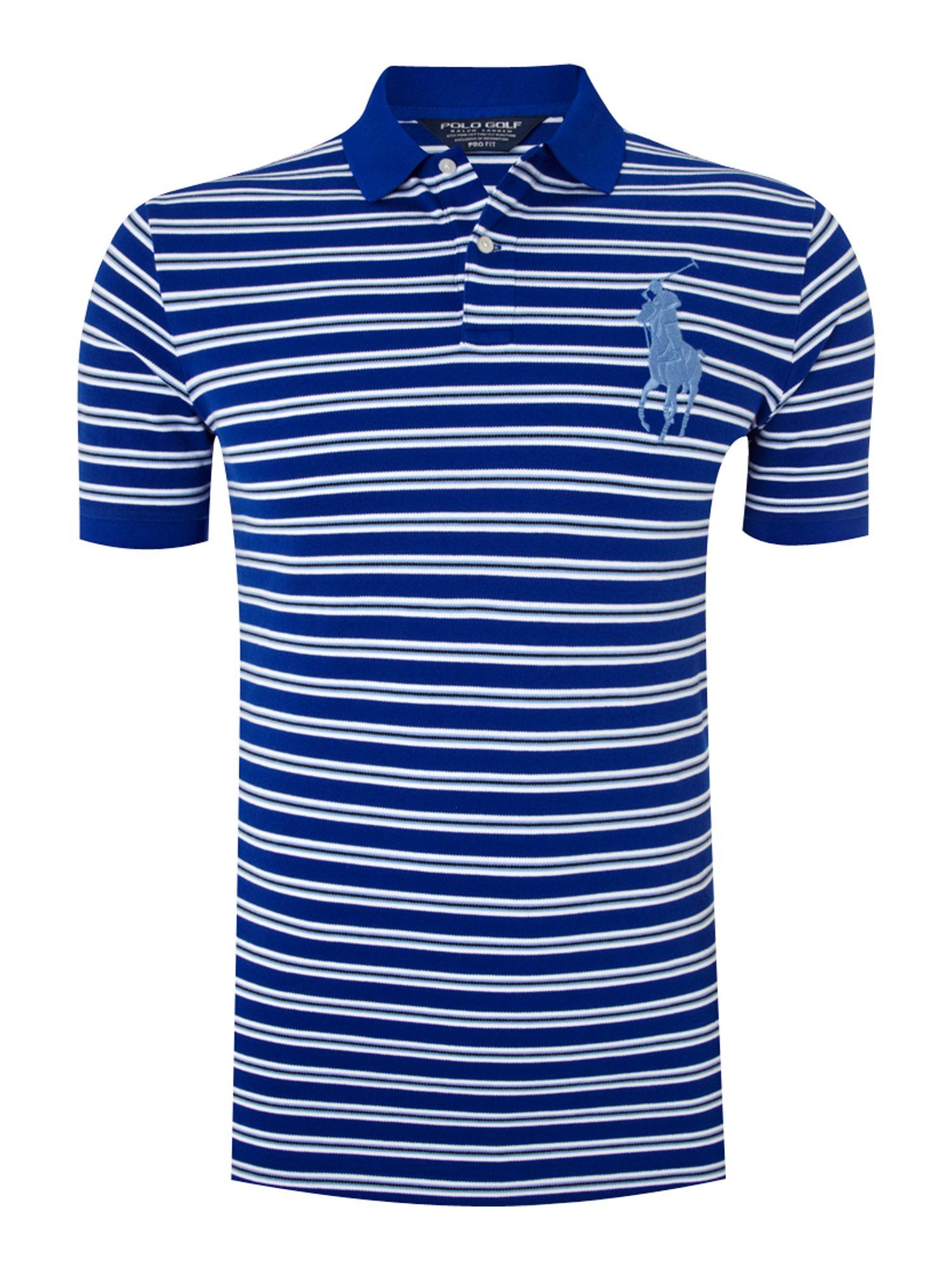 Polo Ralph Lauren Golf The Open Striped Polo Shirt in Blue ...