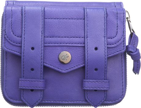 Proenza Schouler Ps1 Small Zip Wallet Leather in Purple - Lyst