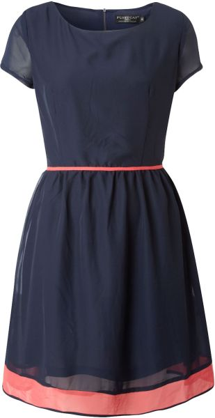 Pussycat Pussycat Tie Waist Dress in Blue (navy) - Lyst