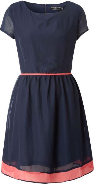 Pussycat Pussycat Tie Waist Dress in Blue (navy)