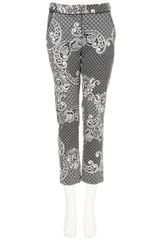 Topshop Paisley Cigarette Trousers in Black - Lyst