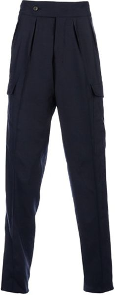 Saint Laurent High Waisted Trousers in Blue for Men (navy) - Lyst