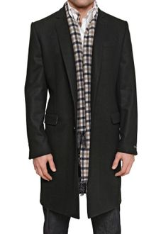 Aquascutum Wool Cloth Blend Coat - Lyst