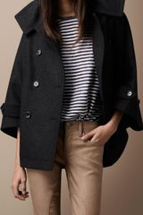 Burberry Brit Wool Blend Coat - Lyst