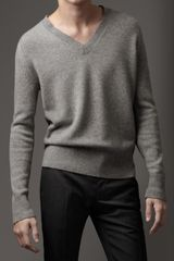 Burberry V_neck Cashmere Sweater - Lyst