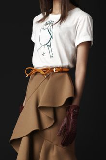 Burberry Prorsum Bird Detail Cotton Tshirt - Lyst