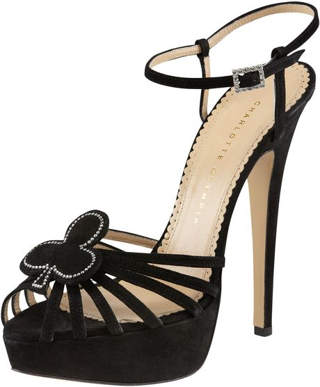 Charlotte Olympia Black Jack Platform Sandals in Black