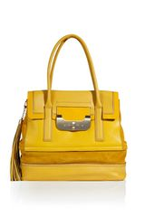 Diane Von Furstenberg Yellow Harper Laurel Shoulder Bag in Yellow - Lyst